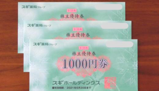 優待券3,000円とパスポート到着 スギHD(7649)