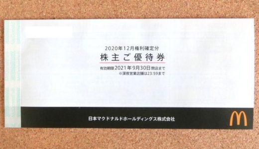 人気の外食優待到着 日本マクドナルドホールディングス(2702)