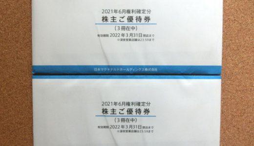 日本マクドナルドHDの到着した株主優待